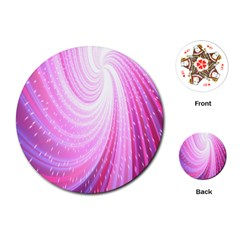Vortexglow Abstract Background Wallpaper Playing Cards (round)  by Simbadda