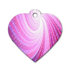 Vortexglow Abstract Background Wallpaper Dog Tag Heart (One Side)