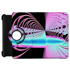 Blue And Pink Swirls And Circles Fractal Kindle Fire Hd 7  by Simbadda