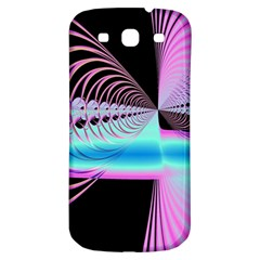 Blue And Pink Swirls And Circles Fractal Samsung Galaxy S3 S Iii Classic Hardshell Back Case by Simbadda