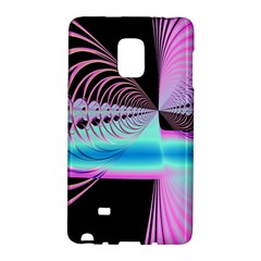 Blue And Pink Swirls And Circles Fractal Galaxy Note Edge by Simbadda