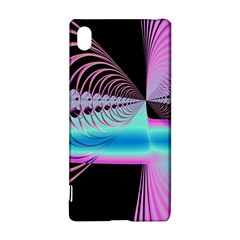 Blue And Pink Swirls And Circles Fractal Sony Xperia Z3+ by Simbadda