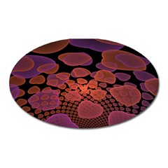 Heart Invasion Background Image With Many Hearts Oval Magnet by Simbadda