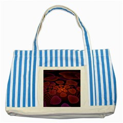 Heart Invasion Background Image With Many Hearts Striped Blue Tote Bag by Simbadda