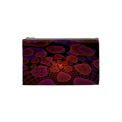 Heart Invasion Background Image With Many Hearts Cosmetic Bag (small)  by Simbadda