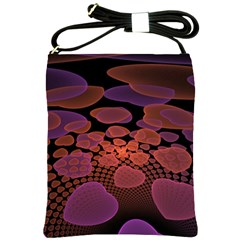 Heart Invasion Background Image With Many Hearts Shoulder Sling Bags by Simbadda