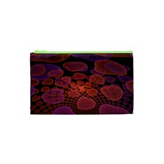 Heart Invasion Background Image With Many Hearts Cosmetic Bag (xs) by Simbadda