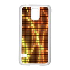 Circle Tiles A Digitally Created Abstract Background Samsung Galaxy S5 Case (white) by Simbadda