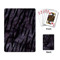 Skin3 Black Marble & Black Watercolor (r) Playing Cards Single Design by trendistuff