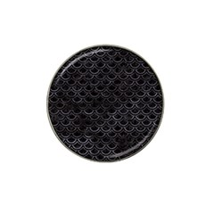 Scales2 Black Marble & Black Watercolor Hat Clip Ball Marker (10 Pack) by trendistuff