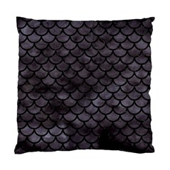 Scales1 Black Marble & Black Watercolor (r) Standard Cushion Case (one Side) by trendistuff