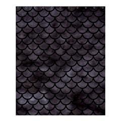 Scales1 Black Marble & Black Watercolor (r) Shower Curtain 60  X 72  (medium) by trendistuff