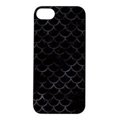 Scales1 Black Marble & Black Watercolor Apple Iphone 5s/ Se Hardshell Case by trendistuff