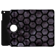 Hexagon2 Black Marble & Black Watercolor (r) Apple Ipad Mini Flip 360 Case by trendistuff