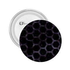 Hexagon2 Black Marble & Black Watercolor 2 25  Button by trendistuff