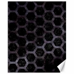 Hexagon2 Black Marble & Black Watercolor Canvas 16  X 20  by trendistuff
