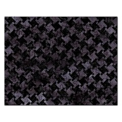 Houndstooth2 Black Marble & Black Watercolor Jigsaw Puzzle (rectangular) by trendistuff