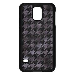 Houndstooth1 Black Marble & Black Watercolor Samsung Galaxy S5 Case (black) by trendistuff