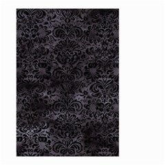 Damask2 Black Marble & Black Watercolor (r) Small Garden Flag (two Sides) by trendistuff