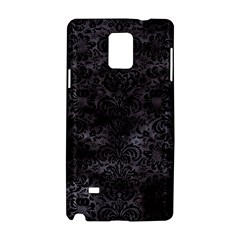 Damask2 Black Marble & Black Watercolor (r) Samsung Galaxy Note 4 Hardshell Case by trendistuff