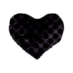 Circles2 Black Marble & Black Watercolor (r) Standard 16  Premium Heart Shape Cushion  by trendistuff