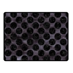 Circles2 Black Marble & Black Watercolor (r) Double Sided Fleece Blanket (small) by trendistuff