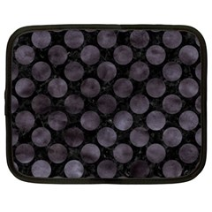 Circles2 Black Marble & Black Watercolor Netbook Case (xxl) by trendistuff