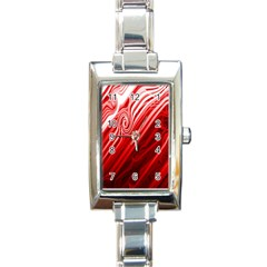 Red Abstract Swirling Pattern Background Wallpaper Rectangle Italian Charm Watch by Simbadda