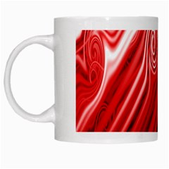 Red Abstract Swirling Pattern Background Wallpaper White Mugs by Simbadda