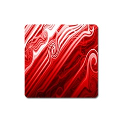 Red Abstract Swirling Pattern Background Wallpaper Square Magnet
