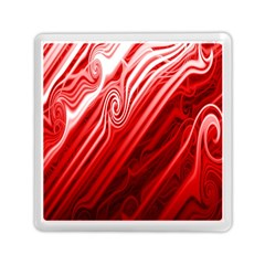 Red Abstract Swirling Pattern Background Wallpaper Memory Card Reader (square)  by Simbadda