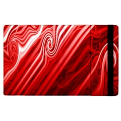Red Abstract Swirling Pattern Background Wallpaper Apple Ipad 3/4 Flip Case by Simbadda