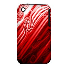 Red Abstract Swirling Pattern Background Wallpaper iPhone 3S/3GS