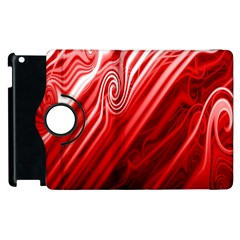 Red Abstract Swirling Pattern Background Wallpaper Apple Ipad 2 Flip 360 Case by Simbadda