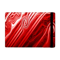 Red Abstract Swirling Pattern Background Wallpaper iPad Mini 2 Flip Cases by Simbadda