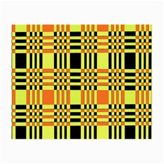 Yellow Orange And Black Background Plaid Like Background Of Halloween Colors Orange Yellow And Black Small Glasses Cloth by Simbadda