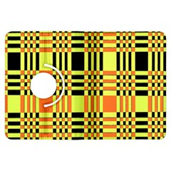 Yellow Orange And Black Background Plaid Like Background Of Halloween Colors Orange Yellow And Black Kindle Fire Hdx Flip 360 Case by Simbadda