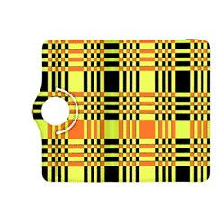 Yellow Orange And Black Background Plaid Like Background Of Halloween Colors Orange Yellow And Black Kindle Fire Hdx 8 9  Flip 360 Case by Simbadda