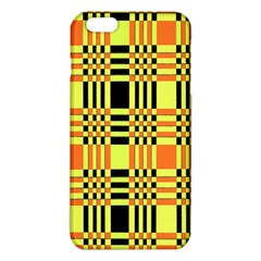 Yellow Orange And Black Background Plaid Like Background Of Halloween Colors Orange Yellow And Black Iphone 6 Plus/6s Plus Tpu Case by Simbadda