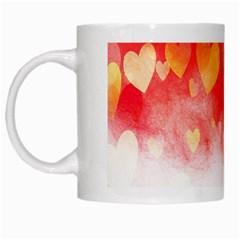 Abstract Love Heart Design White Mugs by Simbadda