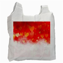Abstract Love Heart Design Recycle Bag (one Side) by Simbadda