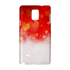 Abstract Love Heart Design Samsung Galaxy Note 4 Hardshell Case by Simbadda