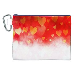 Abstract Love Heart Design Canvas Cosmetic Bag (xxl) by Simbadda