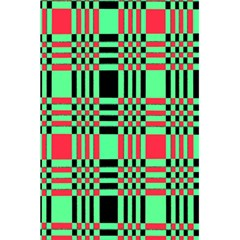 Bright Christmas Abstract Background Christmas Colors Of Red Green And Black Make Up This Abstract 5.5  x 8.5  Notebooks by Simbadda
