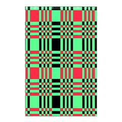 Bright Christmas Abstract Background Christmas Colors Of Red Green And Black Make Up This Abstract Shower Curtain 48  X 72  (small)  by Simbadda