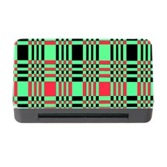 Bright Christmas Abstract Background Christmas Colors Of Red Green And Black Make Up This Abstract Memory Card Reader With Cf by Simbadda