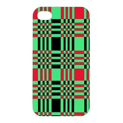 Bright Christmas Abstract Background Christmas Colors Of Red Green And Black Make Up This Abstract Apple Iphone 4/4s Hardshell Case by Simbadda