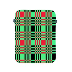 Bright Christmas Abstract Background Christmas Colors Of Red Green And Black Make Up This Abstract Apple Ipad 2/3/4 Protective Soft Cases by Simbadda