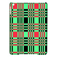 Bright Christmas Abstract Background Christmas Colors Of Red Green And Black Make Up This Abstract Ipad Air Hardshell Cases by Simbadda