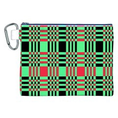 Bright Christmas Abstract Background Christmas Colors Of Red Green And Black Make Up This Abstract Canvas Cosmetic Bag (xxl) by Simbadda